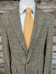 Polo Ralph Lauren by Corneliani Linen Jacket 42R Brown Green Sportcoat Blazer