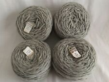 Christopher Sheep Farm Lot of 4 Skeins 100% Pure Virgin Wool 4oz Each Pewter ME