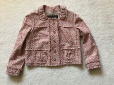 Louis Vuitton Womens Jacket Linen Pink Salmon  EU 40 New