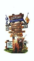 MOTORHOME CAMPER VAN CARAVAN / STICKERS /DECAL / WELCOME TO SCOTLAND /