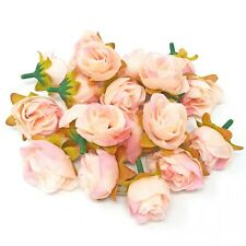 Light Pink Rose Bud Decorative Synthetic Flowers (Faux Silk) - UK SELLER