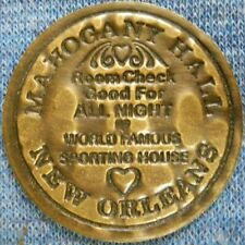 Mahogany Hall Madame Bulldog brass brothel cat whore house token