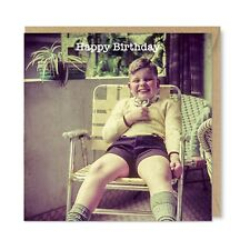 Chin Chin! 1960s Vintage Retro Funny Cute Quirky Drinking Birthday Card, Honovi