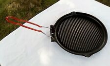 French cast iron griddle with removable handle