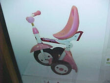 BS6 New Kettler Kiddi-O LadyBuggy Fold n Ride Tricycle 80 lb Weight Limit Pink