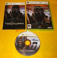 TOO HUMAN XBOX 360 Versione Italiana 1ª Edizione ○○○ COMPLETO AE
