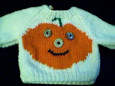 Halloween Jack O Lantern Sweater Handmade for American Girl Doll Made in USA