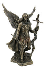 Archangel St. Gabriel With Cross And Trumpet Statue Sculpture Figure