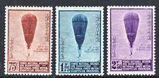 TEMA ASTRO. BELGICA 1932 353/55 GLOBOS AEROESTATICOS 3v. CON FIJASELLOS.