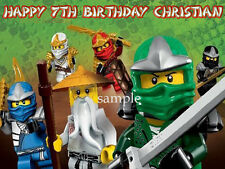 NINJAGO Personalized Edible CAKE Topper Icing Image Lego FREE SHIPPING