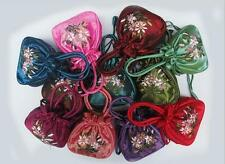 19 Color Elegant  Beautiful Chinese Handmade Embroider Silk Bag Wristlet Womens