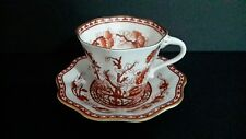Vintage Coalport Scalloped Indian Tree CORAL Tea Cup and Saucer Gold Trim #9