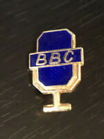 Vintage Collectible BBC Microphone Colorful Metal Pinback Lapel Pin Hat Pin