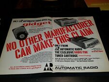 AR Automatic Radio Gidget Rare Original 1967 Retail Promo Poster Ad Framed!