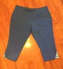 Links Women's activewear Capri pants size XL(Blue and white)
