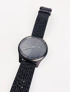 Garmin Vivomove Style Black Nylon Strap Hybrid Smartwatch, 42mm (No Charger)