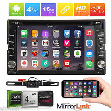 """GPS Navi Map 4G WiFi Double 2Din 6.2"""" Smart Android Car Stereo Radio Bluetooth"""