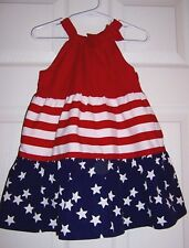 Pre-Owned Red,White,& Blue Dress Size 18-24 Months by Gymboree
