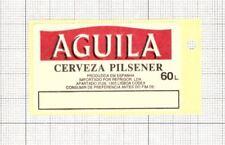 SPAIN El Aguila,Madrid AGUILA Pilsener 60L beer label C1682
