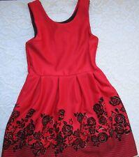 "A Beautiful Red & Black ""Knit Works"" Girls Sundress/Jumper~Size 12"