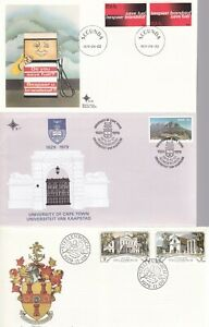SOUTH AFRICA 8 UNADDRESSED FIRST DAY COVERS LOT 3 WITH INSERTS