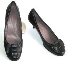 UNISA - Escarpins babies talons 6 cm tout cuir noir 40 EXCELLENT ETAT