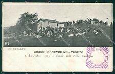 Belluno Grandi Manovre Militari cartolina QT1325