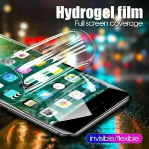 For Apple iPhone 11 12 Pro Max X 8 7 XR Soft Hydrogel Screen Protector Film