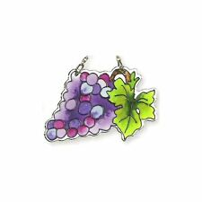 Joan Baker Designs Watercut Suncatcher CALIFORNIA WINE GRAPES Painted Glass