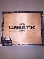 JFR LUNATIC BELLICOSO Maduro Aganorsa Leaf Wooden Cigar Box Humidor metal clasp