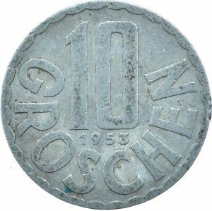 1953 / 10 GROSCHEN / AUSTRIA / OSTERREICH / COLLECTIBLE   #WT17572