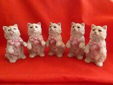 5 x FRANKLIN MINT~1980's 3rd Series Curio Cabinet Cat Figurine # Cybis
