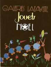 """""""GALERIES LAFAYETTE - JOUETS - NOËL"""" Maquette gouache originale 1938"""