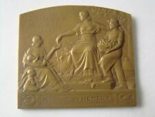 France French Old Bronze Desk Medal - 1 , order