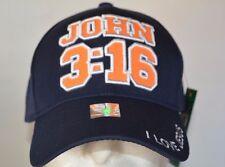 JOHN 3:16 WOODLAND CAP NEW NAVY BASEBALL CAP