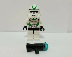 Lego Star Wars Minifigure Clone Trooper Episode 3 Green Markings 7260 sw0129