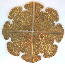 Solid Brass Cast Corner Decorative Victorian Floral Design 4 Cabinet Fittings