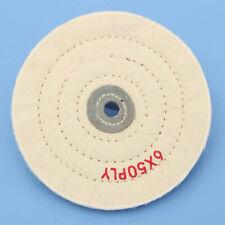 "6'' Cloth Buffing Polishing Wheel 1/2"" Arbor Buffer Polish Grinder White Pad New"