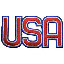 """USA Applique Patch - Olympics Style, United States Badge 3-1/8"""" (Iron on)"""