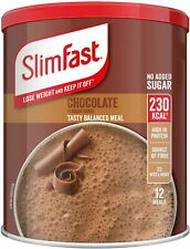 SlimFast Meal Shake, Chocolate Flavour, New Recipe, 12 Servings, Lose Weight