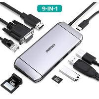 CHOETECH USB C Hub HDMI VGA Adapter für MacBook Pro/Air/iMac/Surface Pro 7/X