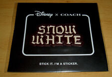 DISNEY X COACH Snow White STICKER Leather Patch A DARK FAIRY TALE Sold out NWT