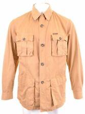 MARLBORO CLASSICS Mens Harrington Jacket Size 42 XL Brown Cotton  BS04