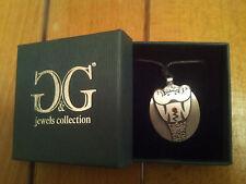 Collana ciondolo G&G jewels collection Serpente in Acciaio e rubino swarovski