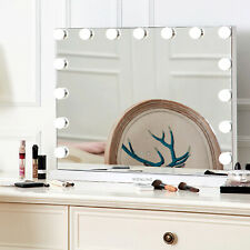 """23""""L Hollywood Makeup Vanity Mirror with Light Stage Large Beauty Mirror White"""