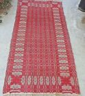 VERY RARE AMERICAN JACQUARD AREA RUG FROM THE 1830s