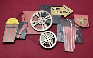 Metal 42x24 Large Movie Wall Art Theater Home Decor Reels Family Game Room