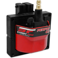 MSD Ignition Coil 5526; Street Fire Red 42,000V E-Core, GM Dual Connector HEI