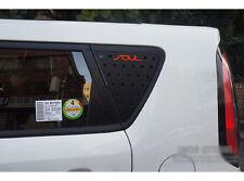 Window Glass Sports Plate Panel C Pillar Black Red 2p For 14-16 Kia All New Soul