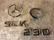 Genuine Mercedes R170 SLK Bonnet & Boot Badges Emblem Logo set 230 320.